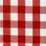 Laminated Linen  Poly Check Red